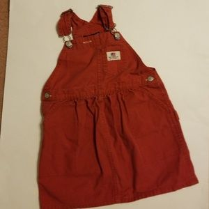 Girls 4T Red Jumper Denim Dress